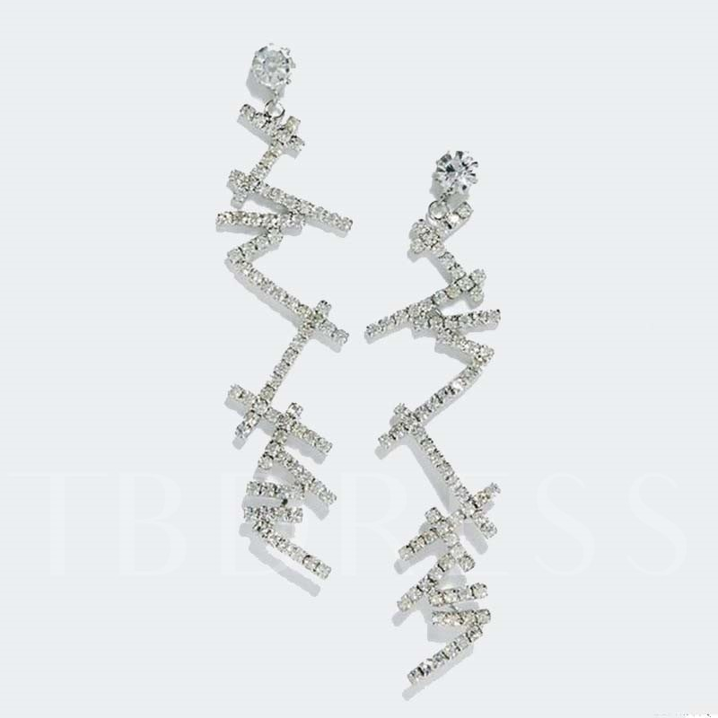 Rhinestone Sweet Diamante Wedding Earrings