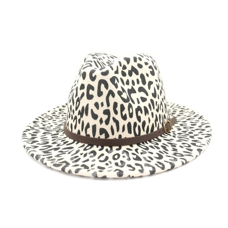 Fashion Leopard Print Women's Fedora Hat