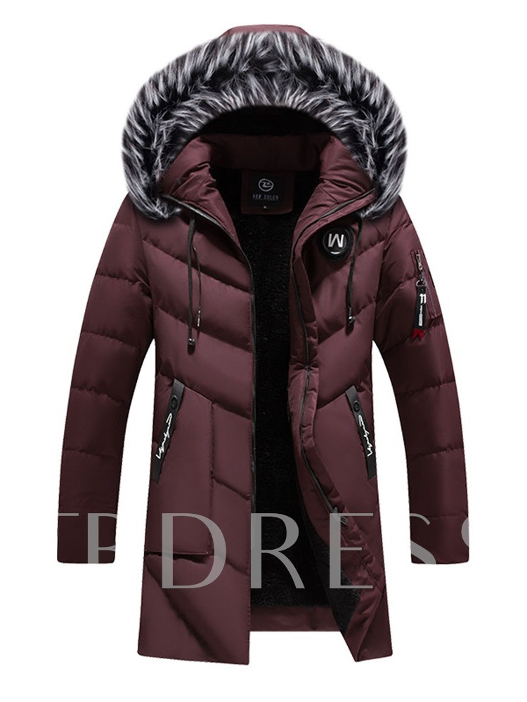 Hooded Mid-Length Casual Men's Down Jacket