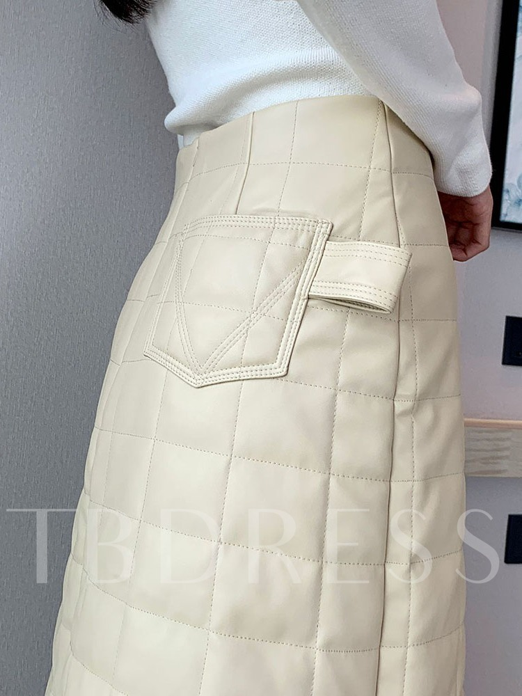 Plain Knee-Length A-Line Casual Women's Skirt