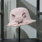 Wool Blends 3D Floral Elegant Women's Hats