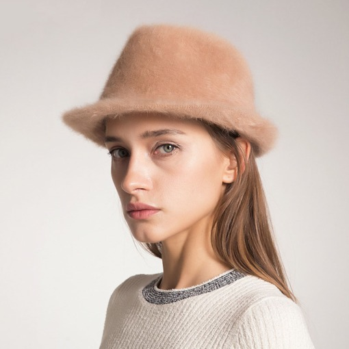 Hemming Fashion Fluffy Women's Bucket Hat