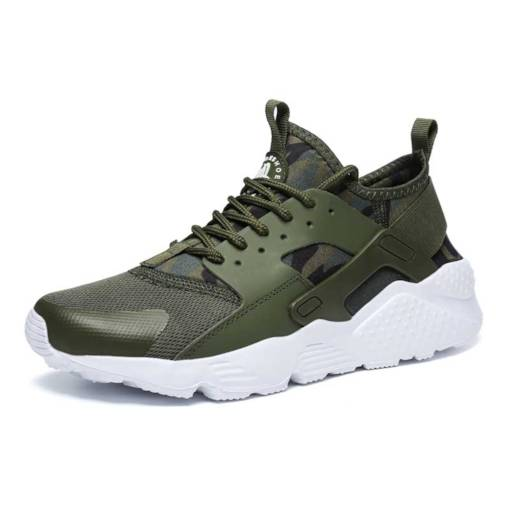 Lace Up Mesh Mid-Cut Casual Men's Sneaker