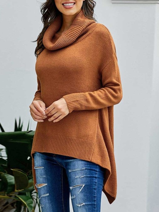 Regular Thin Turtleneck Women's Sweater