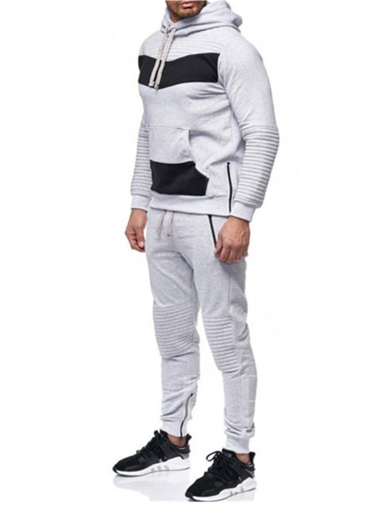 Pants Pocket Casual Color Block Men's Outfit