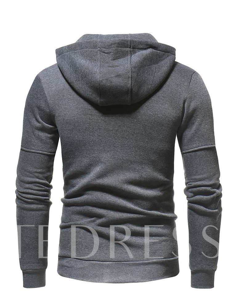 Patchwork Cardigan Plain Men's Hoodies