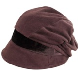 Pleated Cotton Bucket Hat for Winter