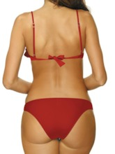 Falbala Sexy Bikini Set Plain Women's Swimwear