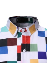 Plaid Print Casual Lapel Single-Breasted Men's Shirt