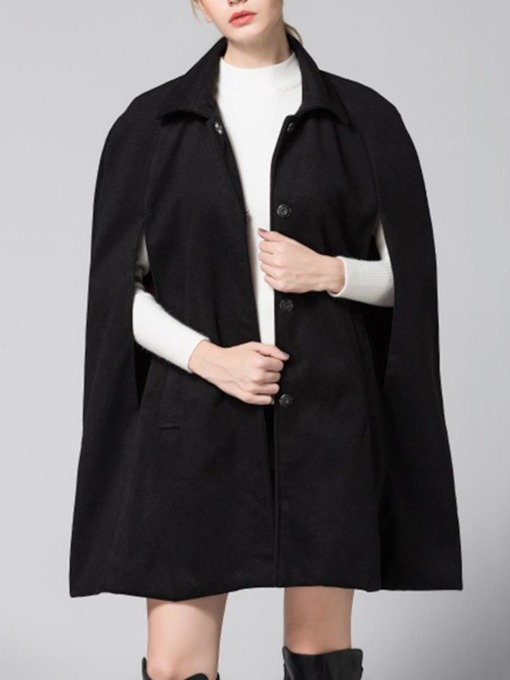 Plain Polyester Casual Women's Cape