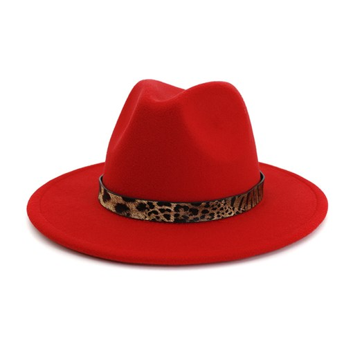 Fashion Flat Brim Patchwork Women's Fedora Hat