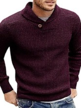 Standard Plain Slim Men's Sweater