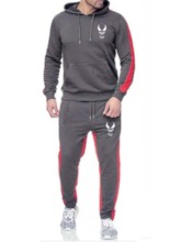 Casual Hoodie Print Color Block Men's Outfit