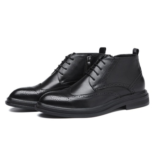 Vintage PU Leather Men's Ankle Boots