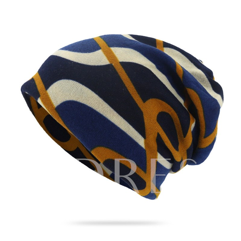 Fashion Polyester Print Skullies & Beanies Hats