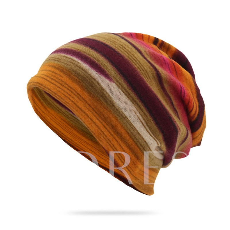 Print European Skullies & Beanies Stripe Hats