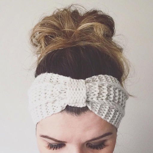 European Plain Knitted Hairband