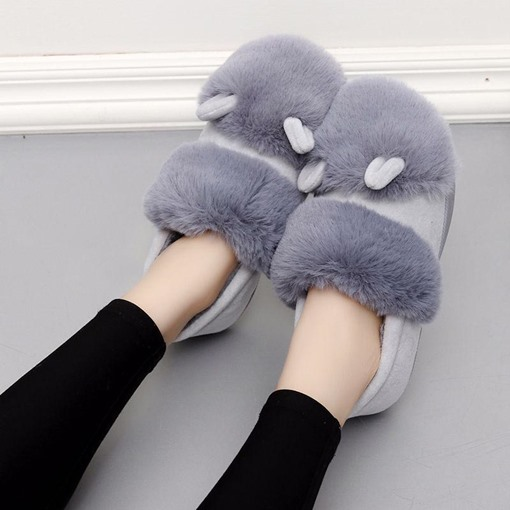 Slip-On Closed Toe Women's Winter Slippers