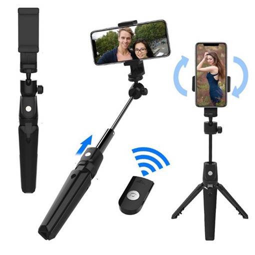 Flexible Stainless Steel Selfie Sticks Tripod Stand Holder Compatible with iPhone Camera GoPro