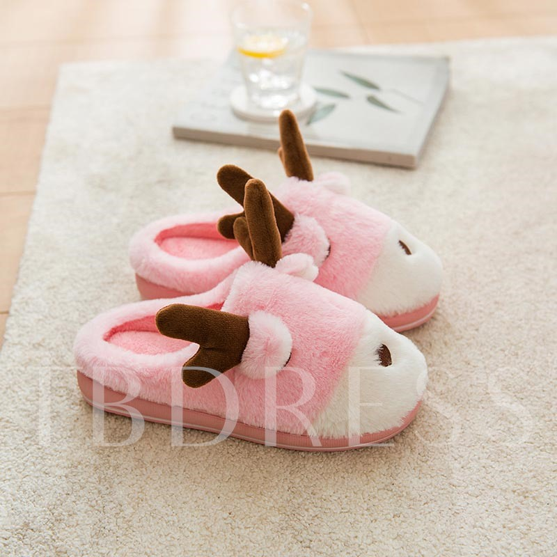 Slip-On Closed Toe Flat With Casual Winter Slippers