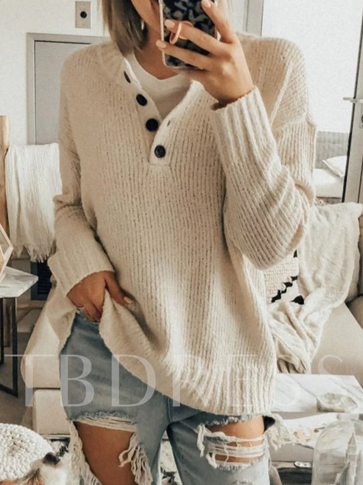 Button Fall Women's Sweater