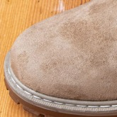 Plain Round Toe Slip-On Flat With Suede Men's Boots