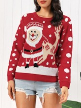 Thin Round Neck Christmas Women's Sweater
