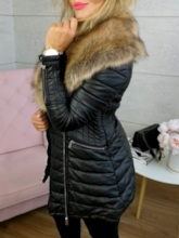 Zipper Loose Mid-Length Fashion Women's Cotton Padded Jacket