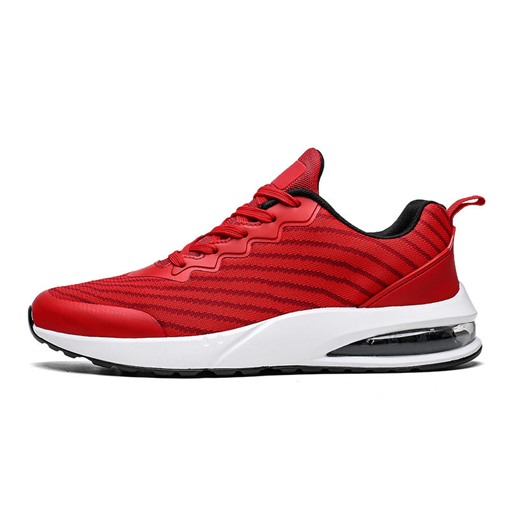 Low-Cut Upper Sports Flat Lace-Up Round Toe Men's Running Shoes