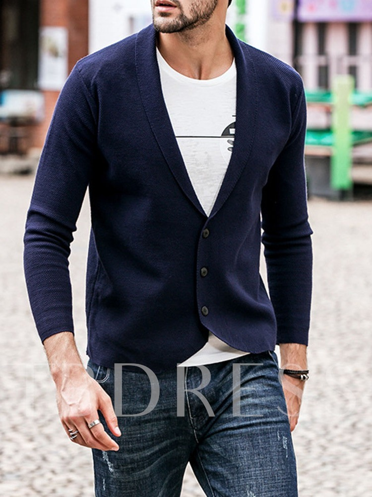 Plain Standard Casual Men's Sweater