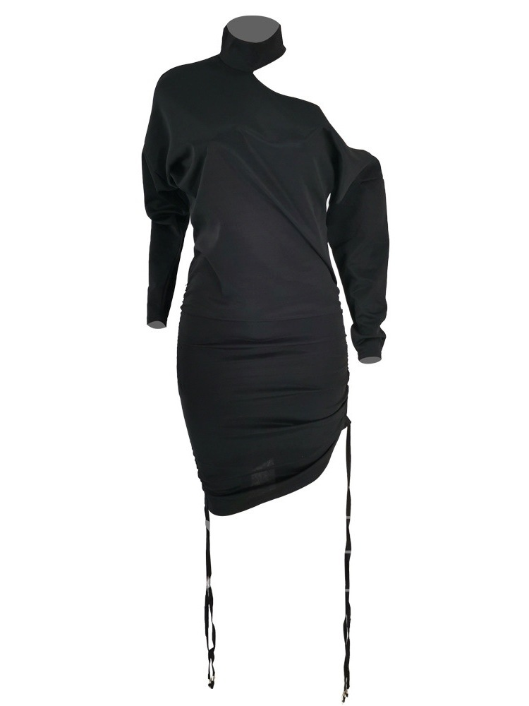 Long Sleeve Lace-Up Above Knee Sexy Women's Dress