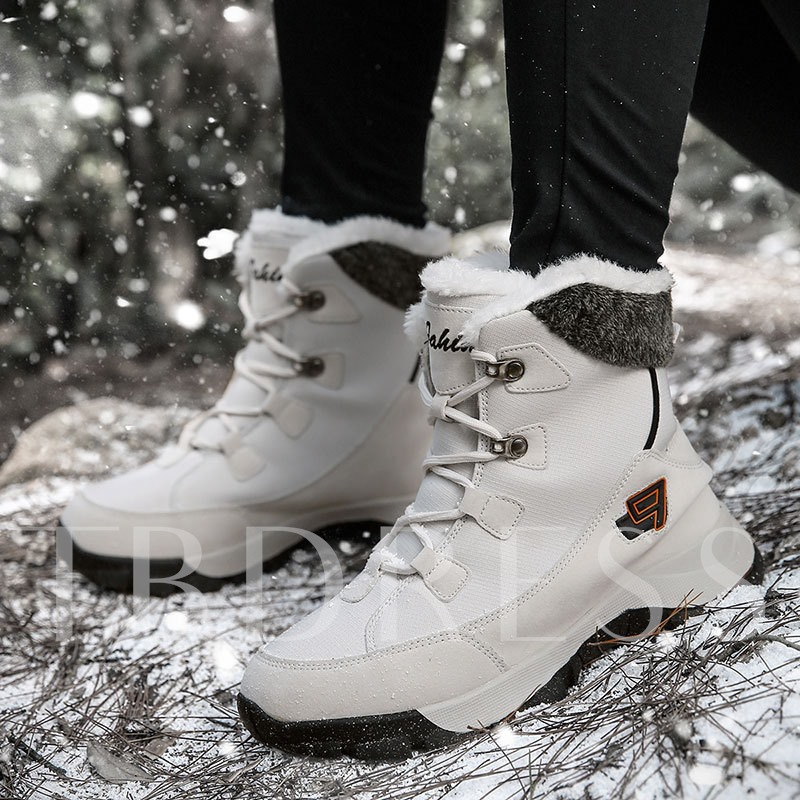 Lace-Up Front Platform Round Toe Men's Hiking Boots