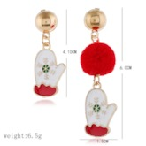 Christmas E-Plating Alloy European Holiday Earrings