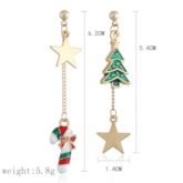 Christmas Tree E-Plating Alloy Sweet Holiday Earrings