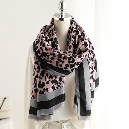 Linen Fashion Leopard Women's Scarves