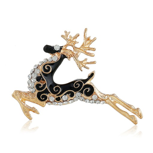 Christmas Deer European Alloy Brooches
