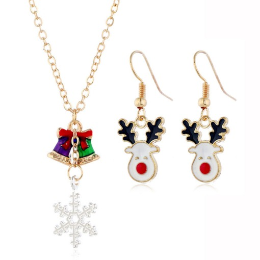 Christmas Oil Drip Earrings European Birthday Jewelry Sets