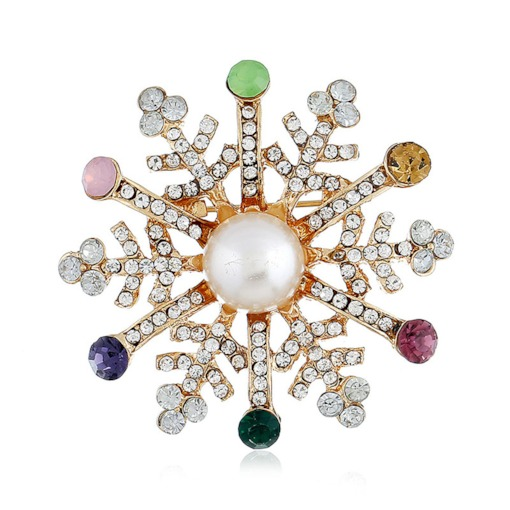Christmas Snowflake European Alloy Brooches