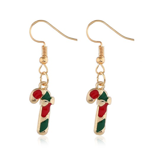 Christmas E-Plating Alloy European Earrings
