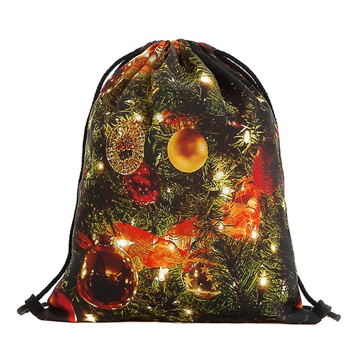 Christmas Cartoon Polyester Print Backpacks