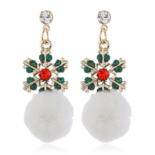 Christmas Alloy Diamante European Drop Earrings