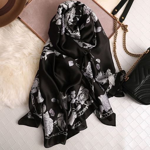 Vintage Floral Scarves for Women