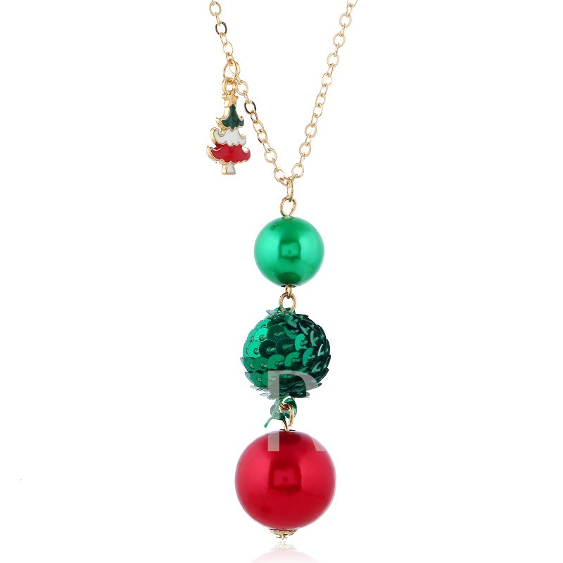 Christmas E-Plating Necklace Sweet Gift Jewelry Sets