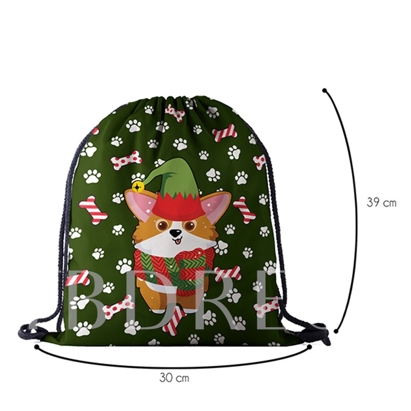 Christmas Oxford Unisex Print Backpacks