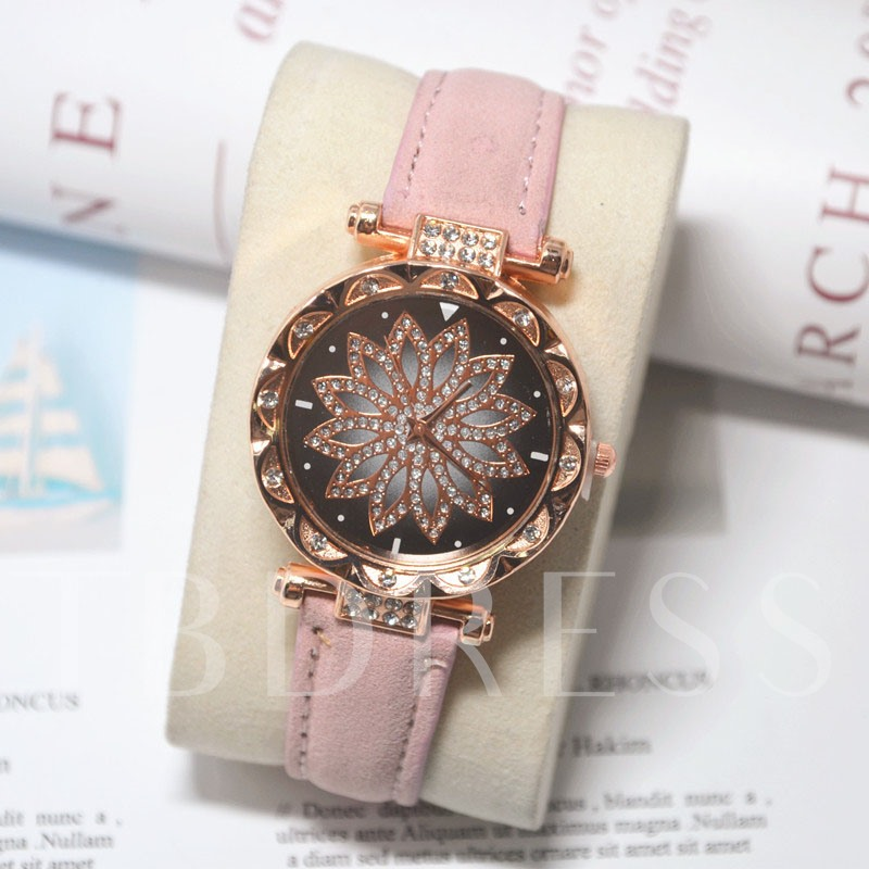 Round Glass Multiple Time Zone Women's Watches
