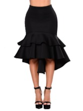 Plain Mid-Calf Mermaid Elegant Women's Skirt