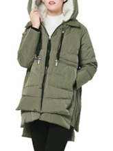 Loose Zipper Thick Patchwork Mid-Length Women's Cotton Padded Jacket