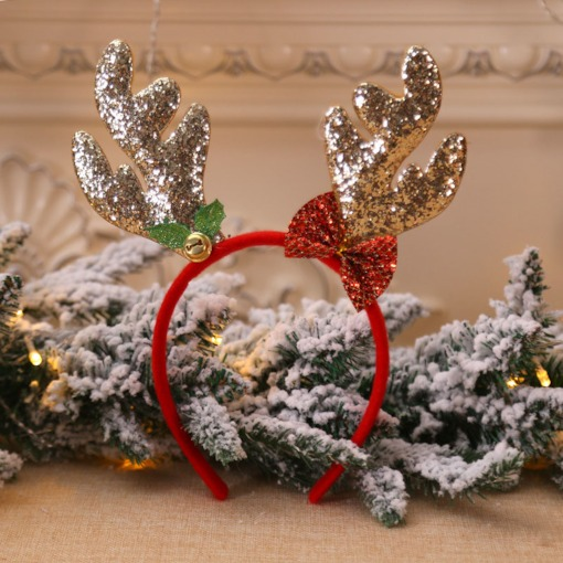 Christmas Deer Horn Handmade Gift Hair Accessories