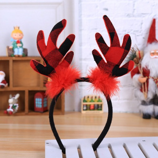 Christmas Plaid Deer European Birthday Hair Accessories