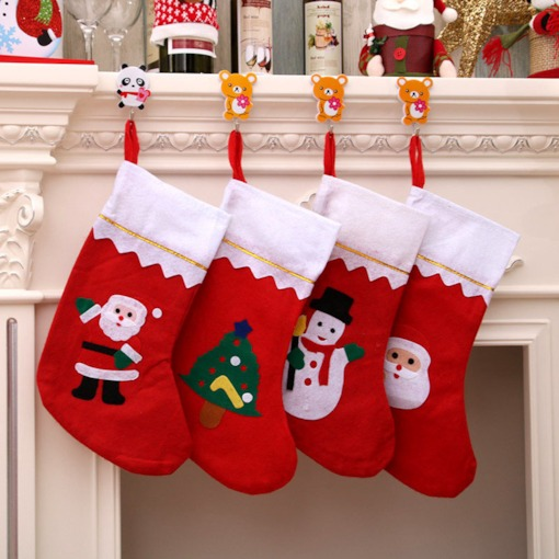 Christmas Cloth Cartoon Decoration Socks